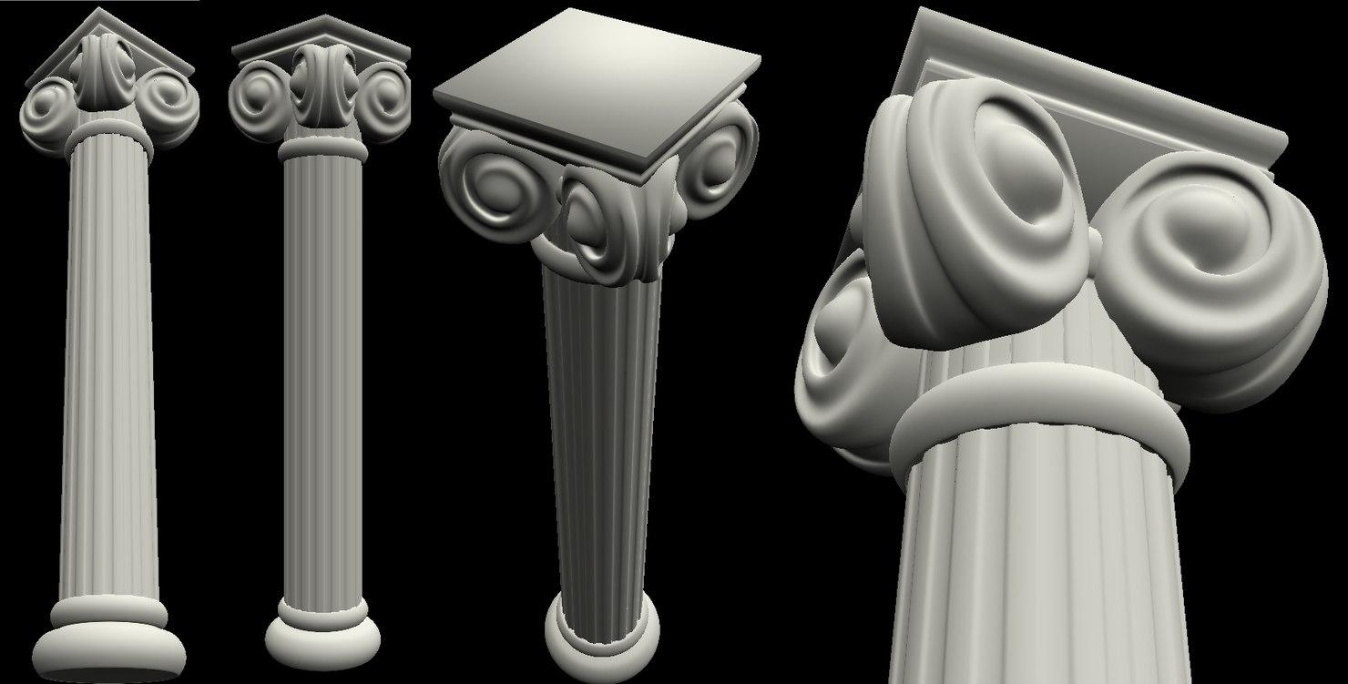 3D model rome pillar