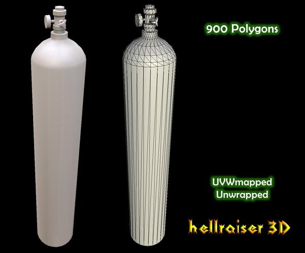 3D oxygen tank