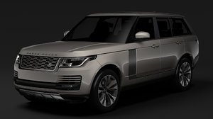 3D range rover supercharged l405 model