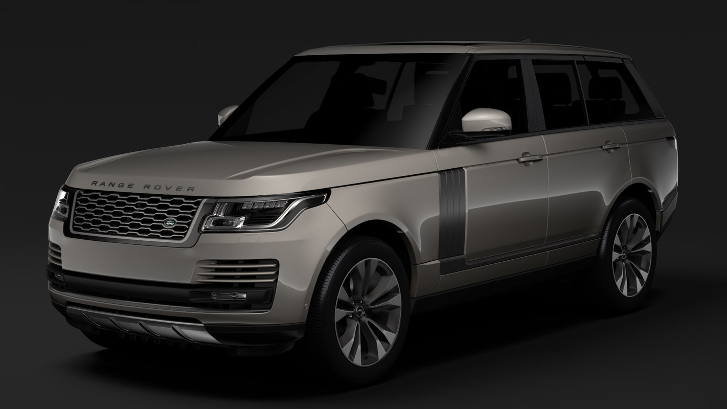 3D range rover supercharged l405 model