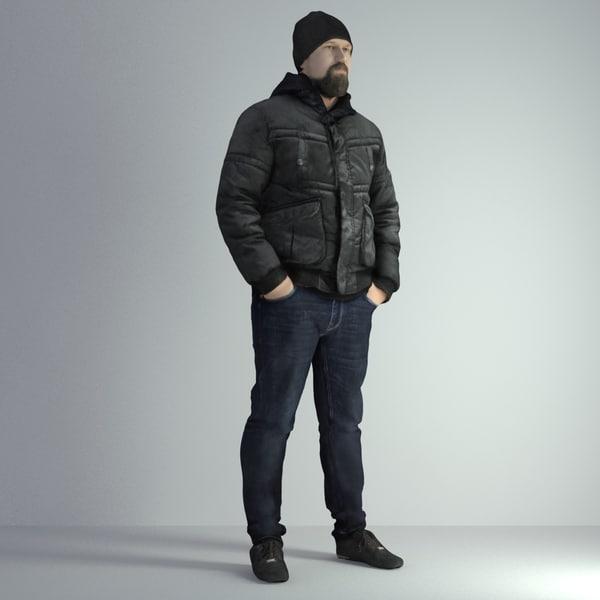 scanned man 027 3D model