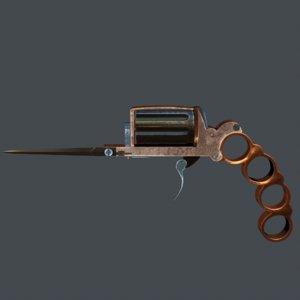 3D apache revolver