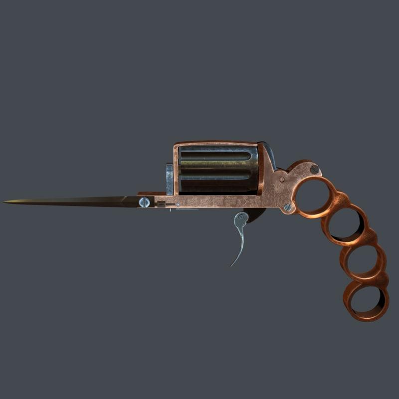 3d apache revolver turbosquid 1230980