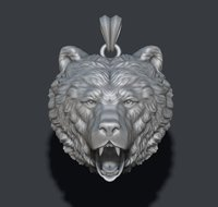 bear necklace 3D