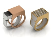 Secret Compartment Ring 2 in 1