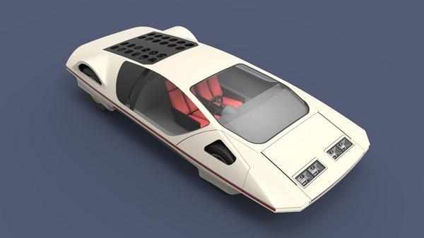3D car sport concept model