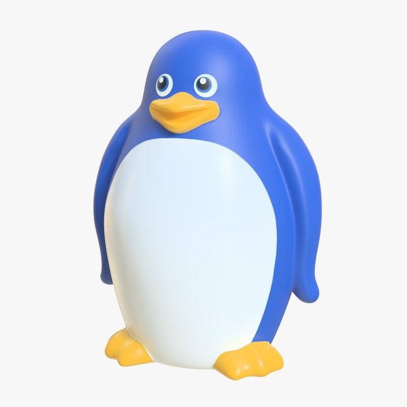 rubber penguin 01 3D model