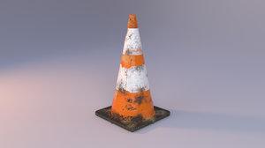 3D street cone