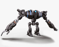 3D robot giant stylized