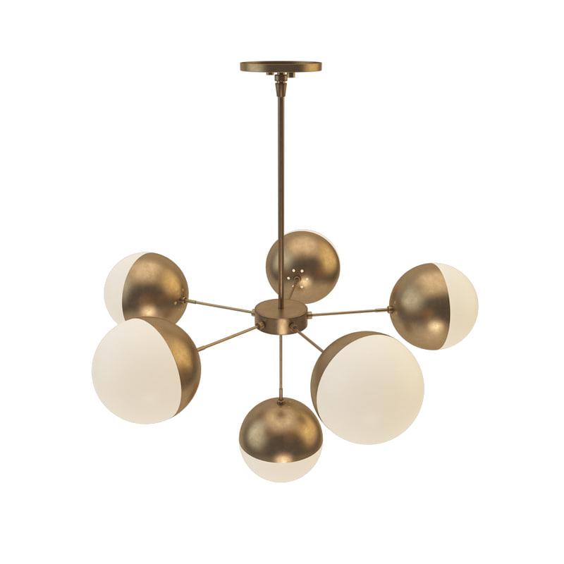 suspended lamp copper light 3D model