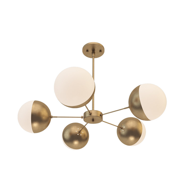 3D suspended lamp copper light