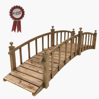 wood wooden bridge 3D model