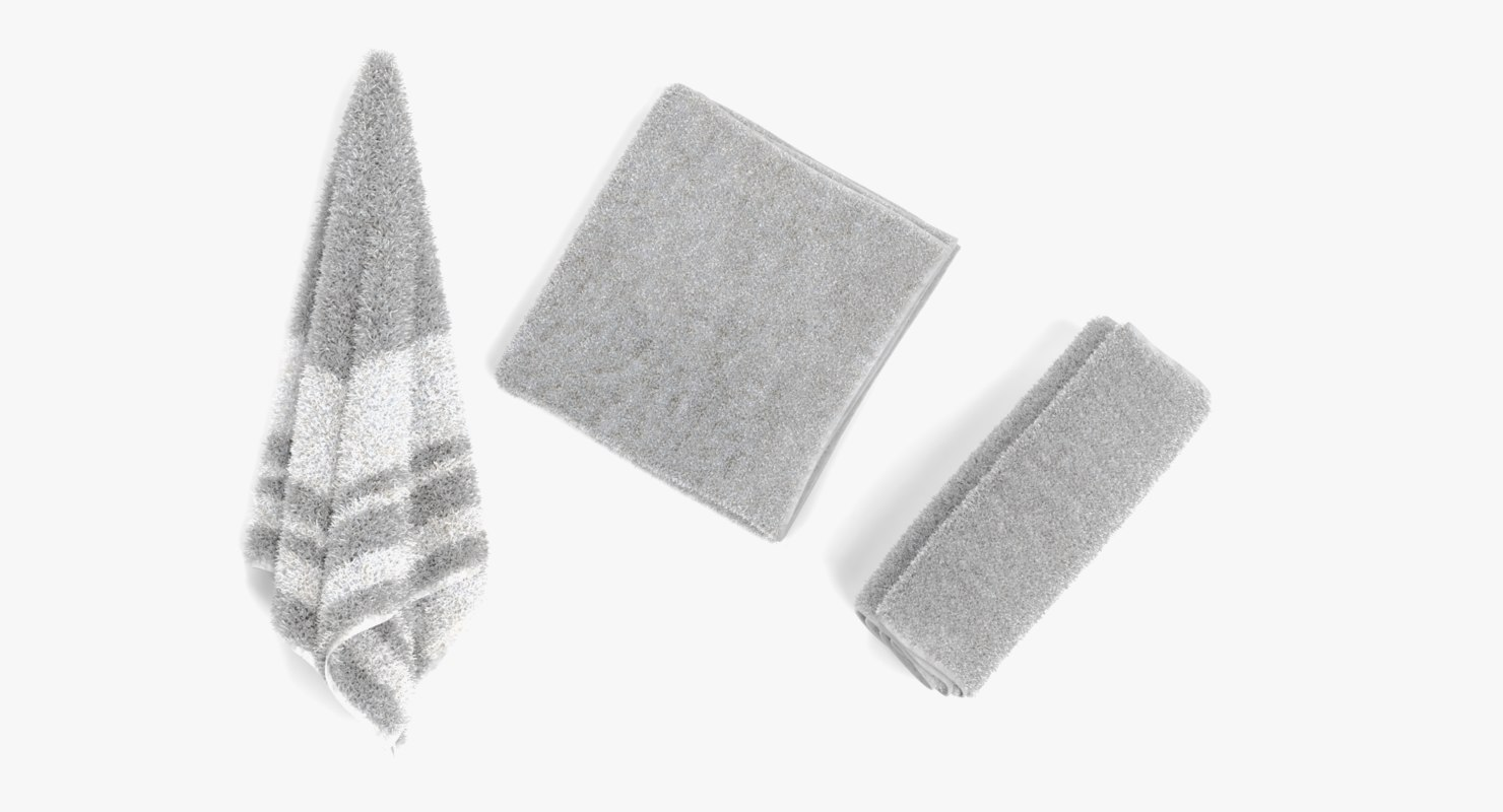 towels pbr hanged 3D model