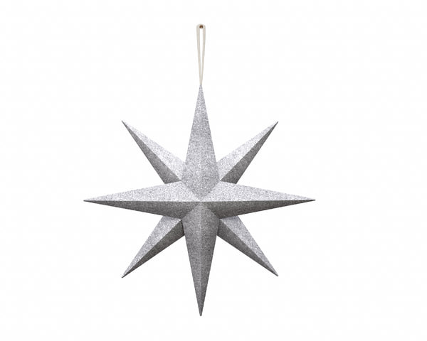 star wall decoration hanger 3D model