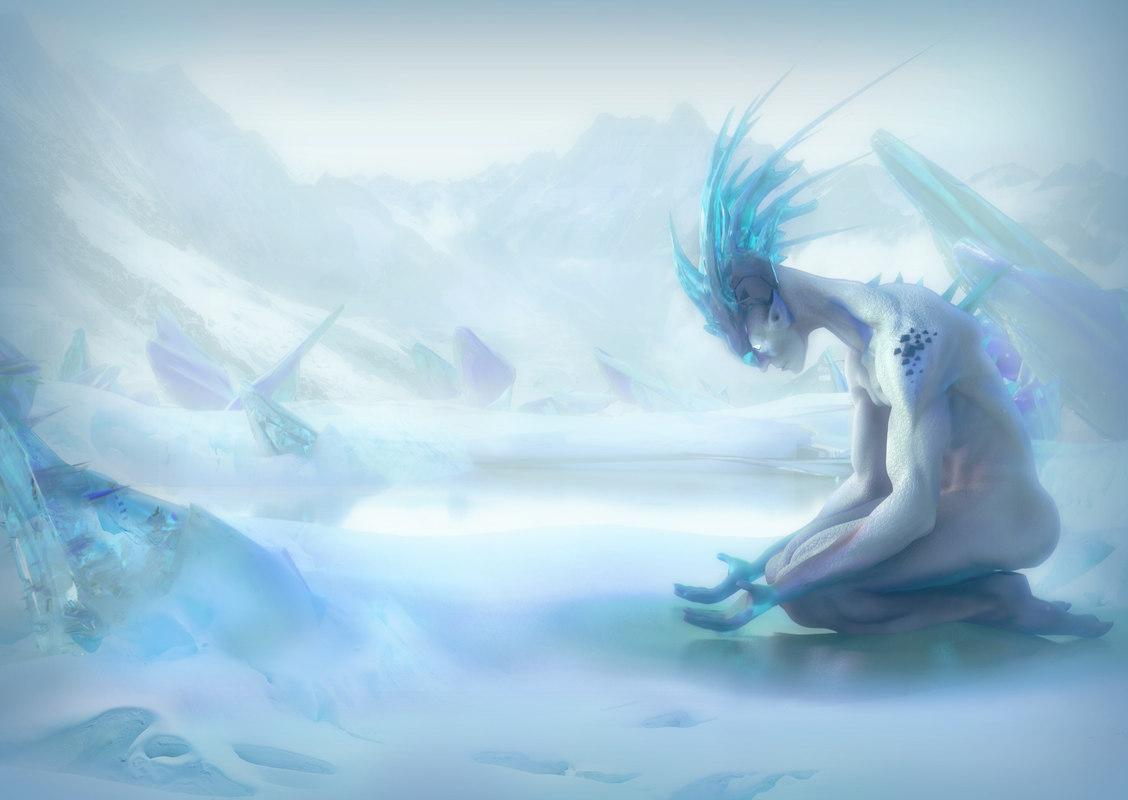 3D fantasy ice