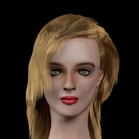 female head elsa 3D model