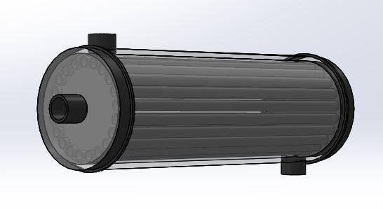 heat exchanger 3D model