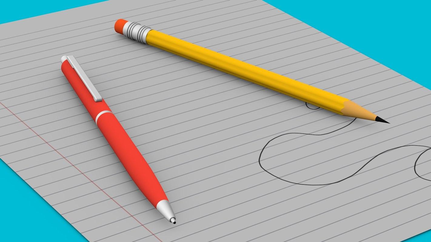 3D pen pencil paper model