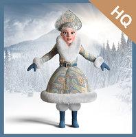 3D model snow maiden