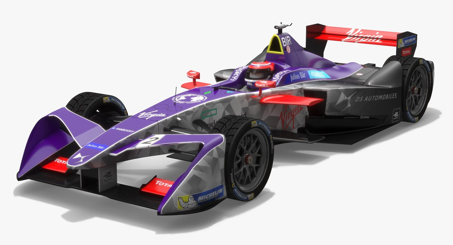 3D ds virgin racing formula model