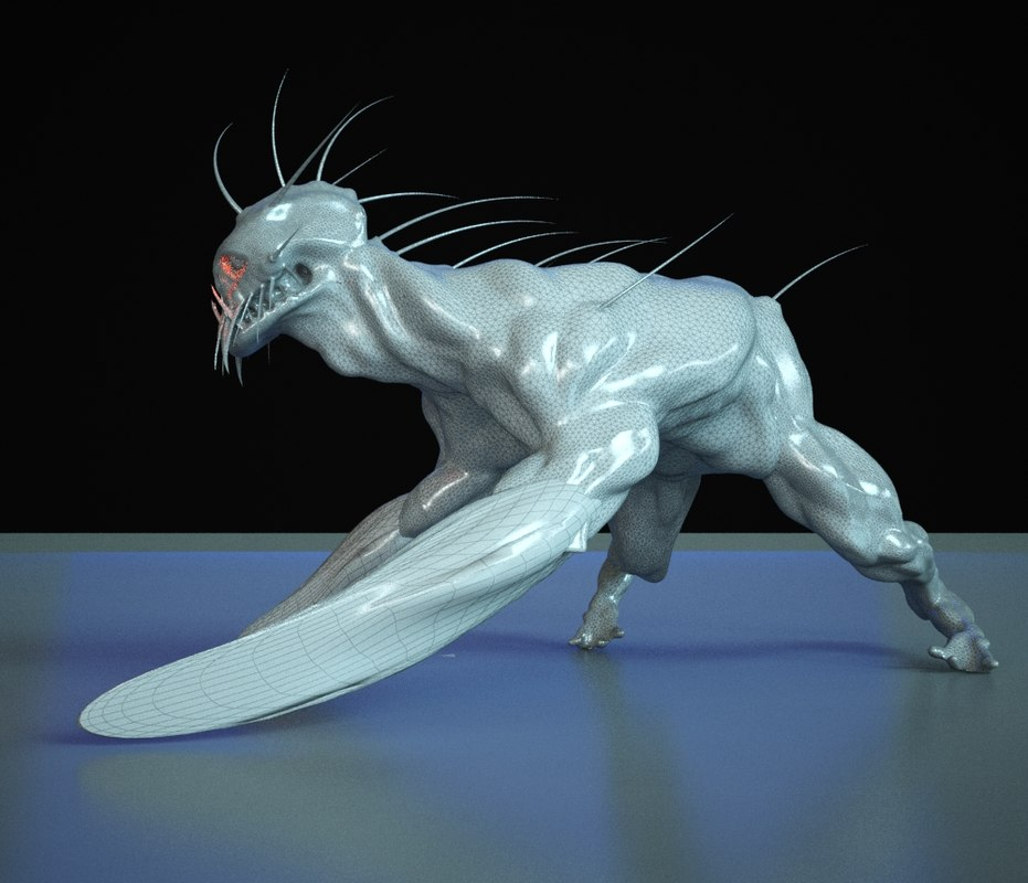 3D beast cyberpunk model