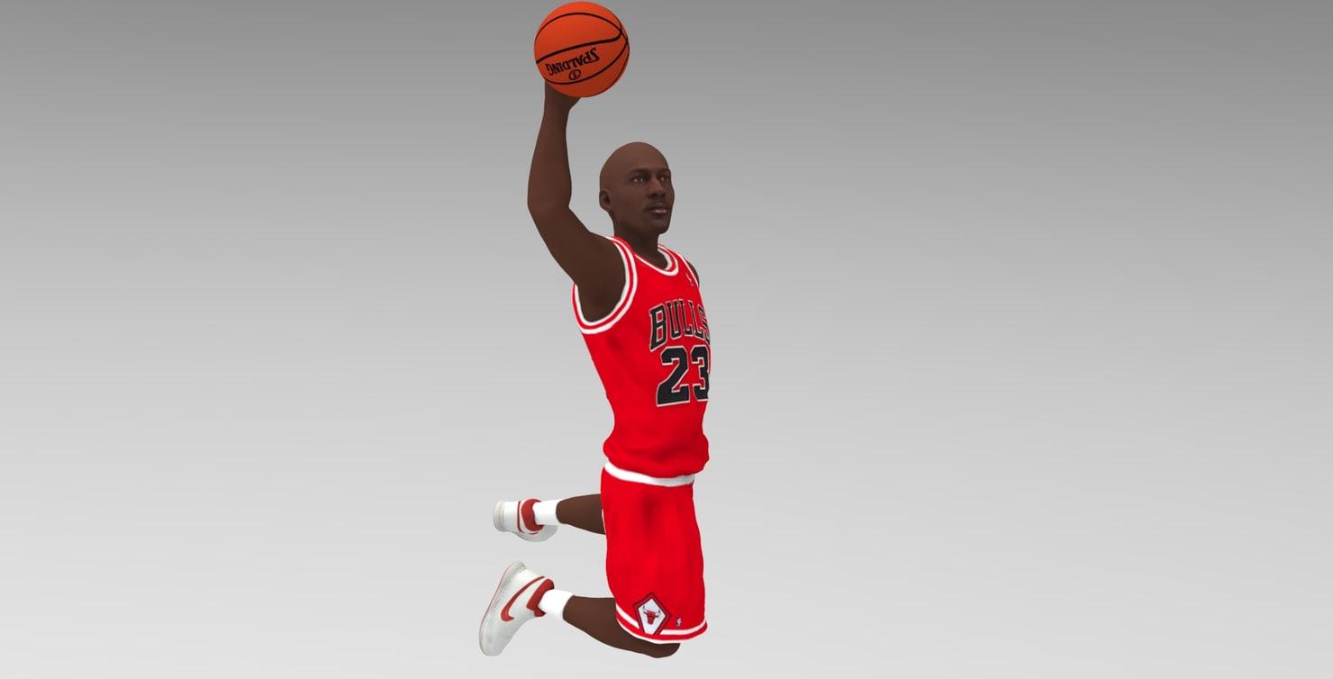 3D michael jordan ready color