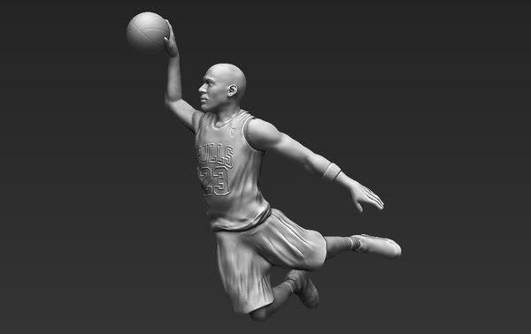 michael jordan ready printing 3D model