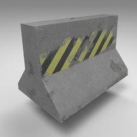 damaged obstacle 3D model