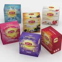 lipton tea boxes 3D model