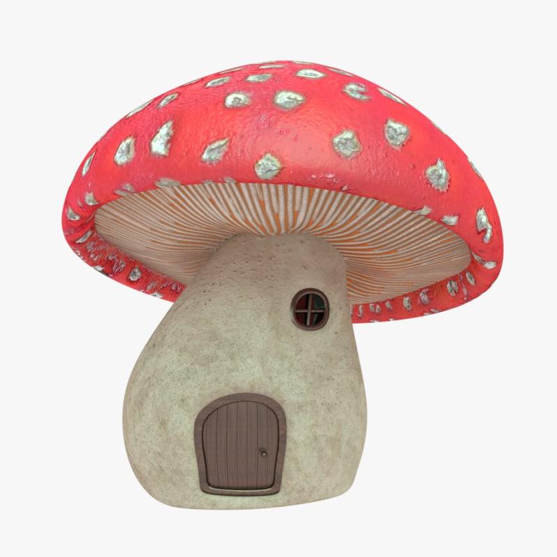 mushroom house model