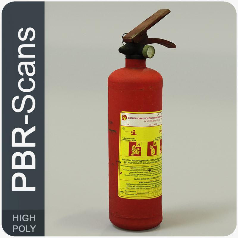 extinguisher pbr scans 3D model