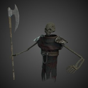 3D model ghost character