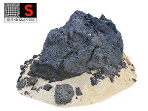 rocky beach ultra hd 3D model
