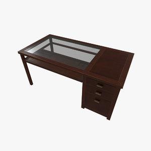 wooden desk 3D