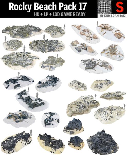 rocky beach pack 17 3D model
