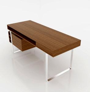 modern desk 3D