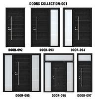 black wood door 3D