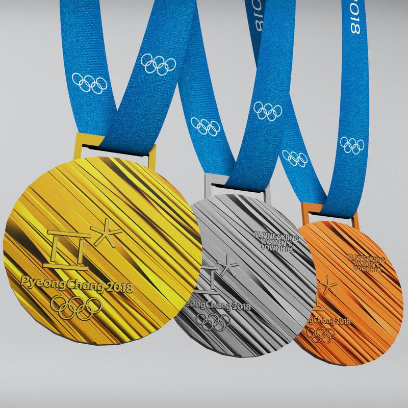 3D pyeongchang 2018 olympic medal