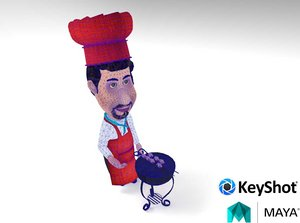 3D chef character