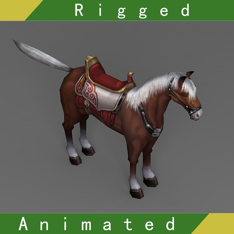 horse rigged animation 3D model