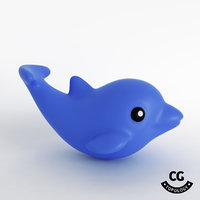 bath toy dolphin 3D model