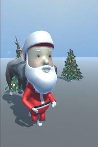 santa games animation 3D model