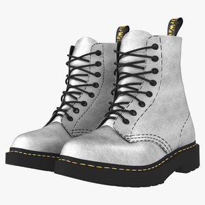 3D boot silver model
