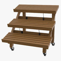 deli bakery rack 03 3D model