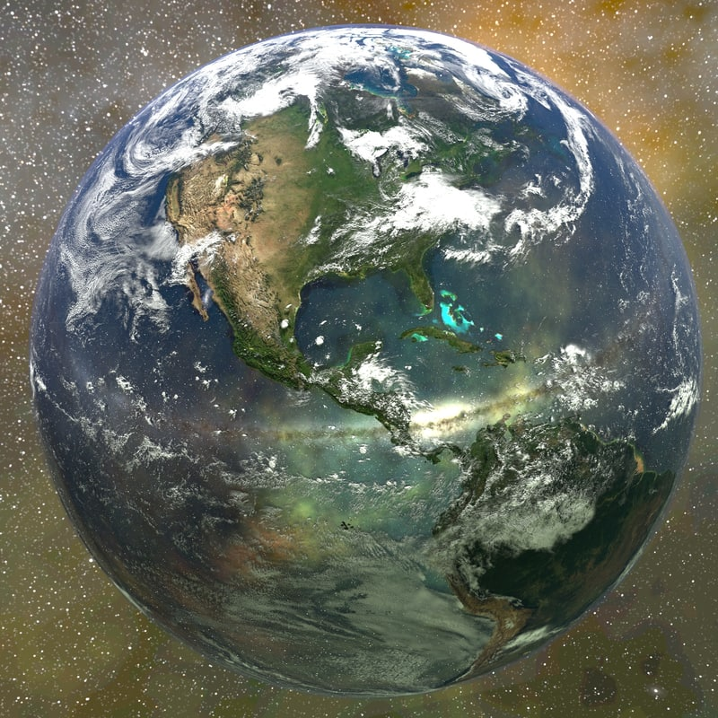 3D model earth blender