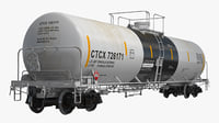 3D railroad tank car