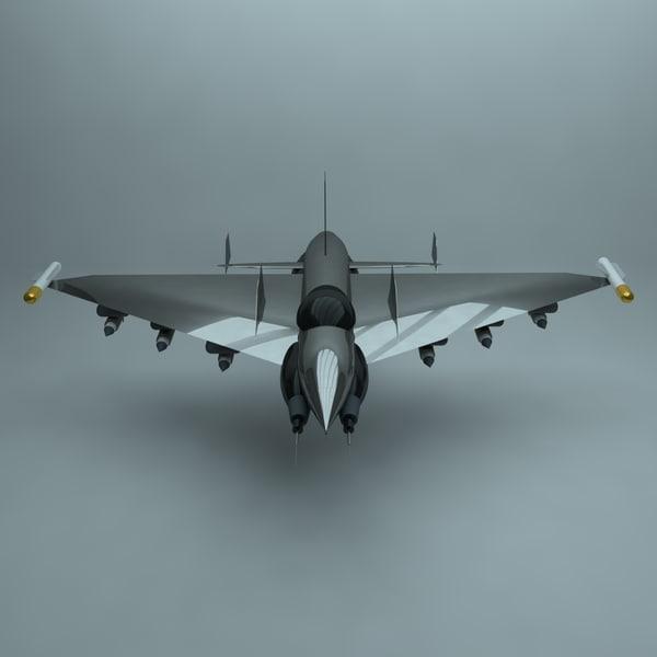 3D futuristic fighter jet model