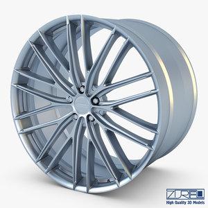 vossen vfs4 20 wheel 3D model