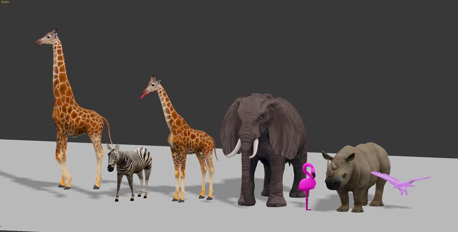 africa animals 3D model