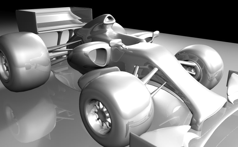 3D formula car caricature model